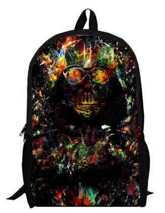 Japanese Anime Bag Star Wars Printing Customization Backpack  Darth Vader Attack of the Clones Women Causul Boys Girls School Bags Mochila AT_59_4