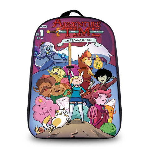 Japanese Anime Bag New Arrivel Fashion Small Sized  Adventure Time Cartoon Printing Kids School Backpack For Boy Girls Daily Travel Backpack AT_59_4