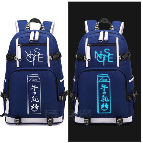 Japanese Anime Bag New  Anonymous Noise cosplay Backpack  Canvas Bag Luminous Schoolbag Travel Bags AT_59_4