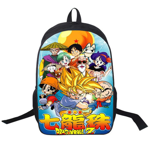 Japanese Anime Bag  Dragon Ball Cosplay Student male and female leisure travel backpack computer bag child birthday gift AT_59_4