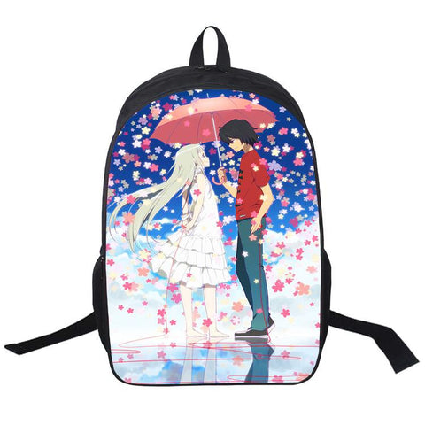 Japanese Anime Bag  We still doesn't know the flower we have met that day Cosplay Student male and female leisure travel backpack AT_59_4