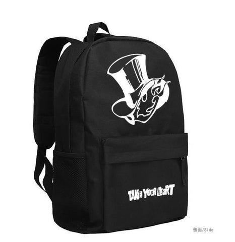 Japanese Anime Bag New Persona 5 Cosplay Backpack TAKE YOUR HEART Cartoon Bag  oxford Schoolbag AT_59_4