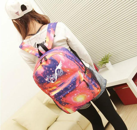 Japanese Anime Bag  sora no otoshimono Cosplay Student campus casual men and women backpack large capacity travel backpack AT_59_4