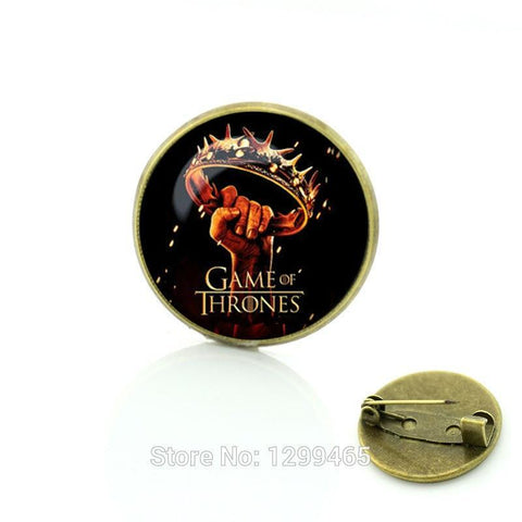 "Winter Game of Thrones GOT Vintage Brooch /pins"""" dress Accessories t Christmas Gift Glass cabochon dome  Hot-Selling   C121 AT_77_7"