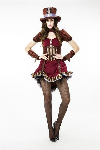 59871795440ca Alice In Wonderland Deluxe Mad Hatter Costume for Women Adult Girls Cosplay  Halloween Magician Pirate Captain Costumes Outfits