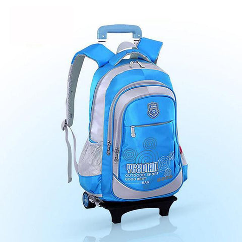 Boy School Bag Back Pack School Backpack For Girls With Wheels  School Bags Wheel Kid Luggage