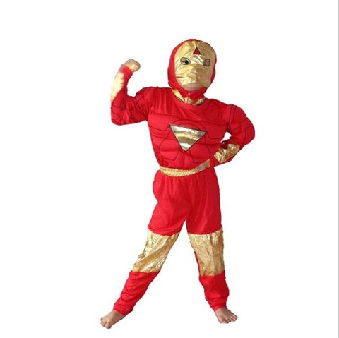 halloween costume for kids captain american spiderman superman robin the hulk the flash muscle cosplay costume