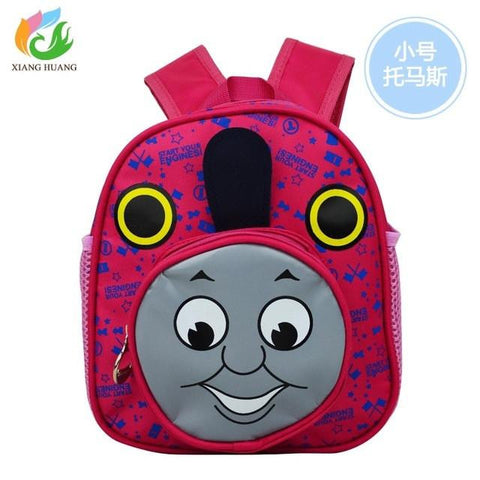 2017 New Cartoon Train Thomas School Bags kids School Backpack for Boys Girls Kids Schoolbag Mochila