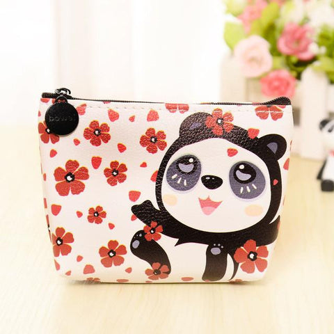 2017 The new  han edition cartoon cute animal storage  package PU leather children change purse