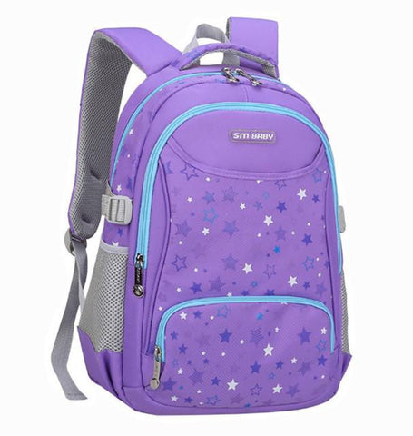 2016 New printing Backpack Children School Bags For Girls Boys Cute kids bag Ultra light Alleviate Burdens Breathable 4 colors
