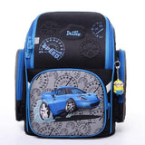 2017 Factory delune brand kids school bag primary school bear floral backpack boys girls 3D blue cars character school backpack