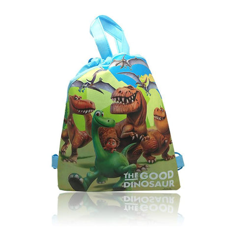 12pcs the Good Dinosaur Kids Cartoon Drawstring Backpacks School Bags,34*27cm,Children Party Gift Bags,Kids Best Gifts