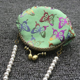 2017 butterfly printing Coin Purses Canvas Bags Cloth Fashion Wallets Handbag Key Holder Pouch Pockets Clutch Bag
