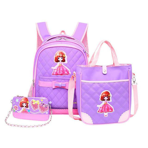 2017 School Bags 3pcs/set for Girls Waterproof Children School Backpack Satchel kids book bag shoulder schoolbag Mochila Escolar