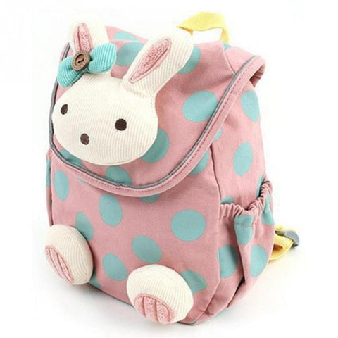 2017 New Animal Design Children Boys Girls 3D Cute Rabbit School Bag Anti-lost Backpack Kids Kindergarten Bag