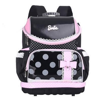 2016 New Dot Prints Schoolbag Girl High Quality Canvas Waterproof Backpack Beautiful Bow Burden School Bags Kid Mochila Escolar
