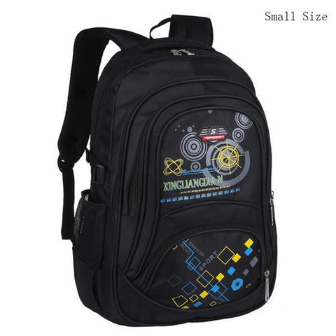 2017 Korean Version School Bag Boys Children Large Capacity Kids Backpack Prints Pattern Black Waterproof Travel Bag