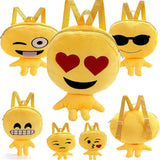 2016Hot Cute Kid Expression Plush Toys Bags Yellow Girls Boy Children's Backpack
