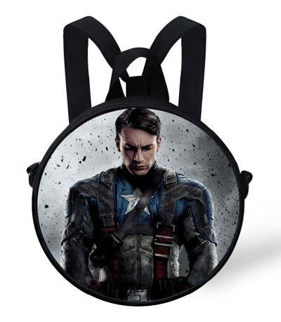 Marvelous 9 Inch Popular The Avengers Superhero Kids Cartoon Character Backpacks For Boys The Captain America Round Backpack For Children Pabps2019 Chair Design Images Pabps2019Com