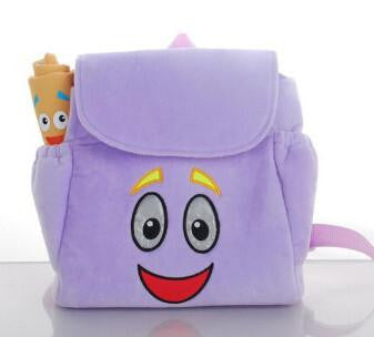 Animation cartoon kids schoolbags Dora Backpacks kid's small gifts backpacks plush cartoon PRE School Bags Toddler