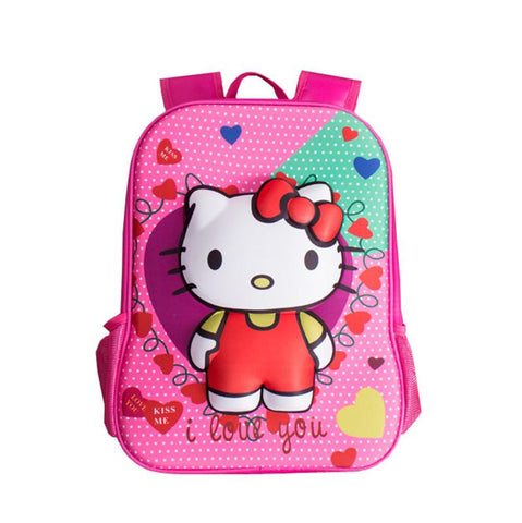 bb78fbf69588 Cute 3D Cartoon Hello Kitty Bag Elementary School Backpacks Kids Schoo –  2018 AT 142 30 (Animetee.com Friends)