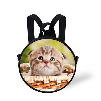 33cac73d3873 WHOSEPET Cute Cats Round Messenger Bags Dogs Printing Shoulder Bags for  Women Girls Children Mini Sling Satchel Stylish Purse