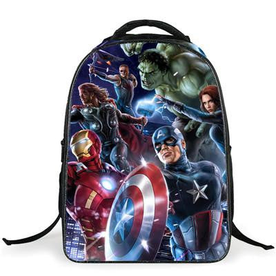 ... Marvel s The Avengers Cartoon Captain America Children Backpacks Boys  Schoolbag Iron Man bags Printing School Backpack 10f066676a90e