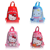4Pcs Hello Kitty Children Cartoon Logo Drawstring Backpack School Shoppping Bags,Mixed 4 Models,29*22cm,Non Woven