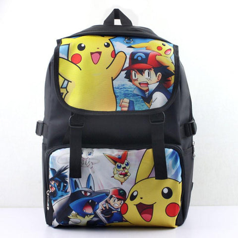 Japanese Anime Bag Pokemon backpacks Pocket Monster backpacks Picacho Satoshi  kids school bags student bags cartoon mochilas laptop AT_59_4