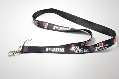 I Love JDM Lanyard for Key/Phone Features Haters Shocker Bandaid New Driver F*ck Panda turbo nos keychain - Animetee