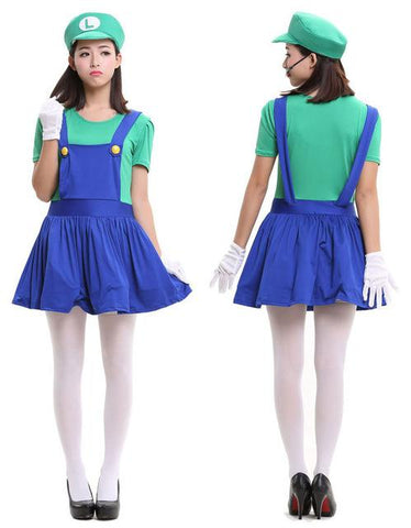 halloween costumes funny super mario luigi costume for family kids boys children mother father adult women