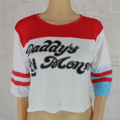 2aa81f2fb Suicide Squad Harley Quinn Daddy's Lil Monster T Shirt 2016 Harley Qui –  2018_AT_142_30_(Animetee.com_SBRA)