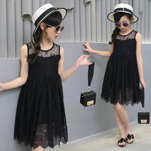 984d1c57c Summer Child Girls Lace Dresses Baby Girl Voile Dress For Kids ...