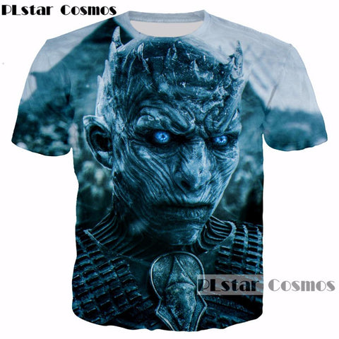 Winter Game of Thrones GOT PLstar Cosmos TV  Design summer t-shirt Men Women Cool 3d t shirt harajuku style casual O-Neck Tee shirts Tops AT_77_7