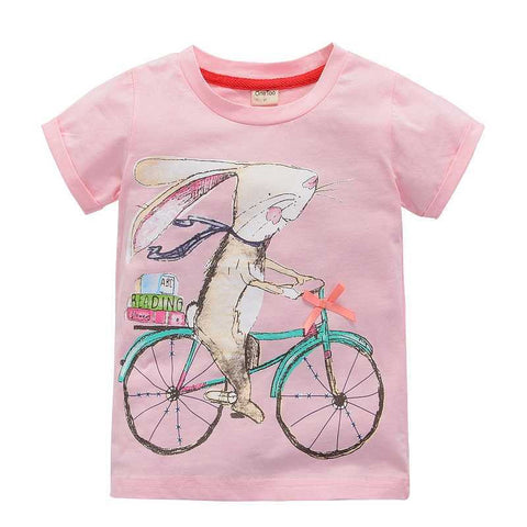 Various designs Rabbit gumball butterflies fox kittens crab giraffe monkey kids toddler youth top tee t-shirt cute - Animetee - 9