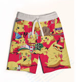 2 Colors Real USA size Custom Made Pokemon 3D Sublimation Print Fifth & Seventh Shorts with String - Animetee - 4