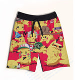 2 Colors Real USA size Custom Made Pokemon 3D Sublimation Print Fifth & Seventh Shorts with String - Animetee - 5