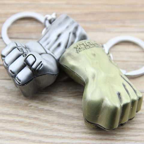 1PCS Super Hero Avengers Hulk Fist Avengers Marvel Comics Metal Keychain Pendant Key Chain Chaveiro hwd - Animetee - 1