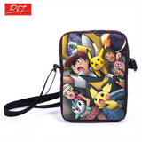 Anime Pokemon Pikacun Mario Dragon Ball Mini Messenger Bag Girls Boys School Bags Kids Book Bag Shoulder Bags For Snacks Lunch - Animetee - 1