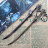15cm League Of Legends LOL Wind Sword Yasuo Weapon Sword Bronze Alloy Pendant Key Ring Keychain In Box - Animetee - 1