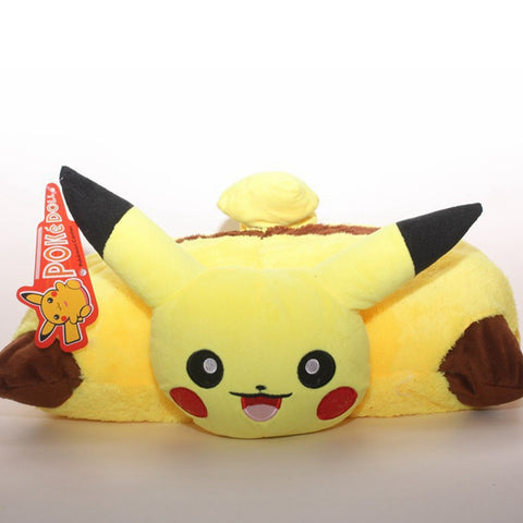 1pcs Anime Cartoon Pokemon Pikachu pillow Pokemon Folded Cushion 40*30cm Free shipping - Animetee