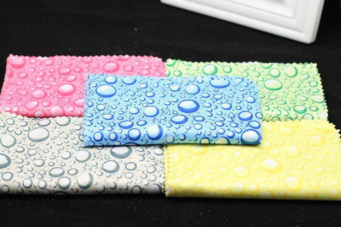 10 pcs/lots Water Droplets Lens Cloth Fresh Multicleaner Glasses Cleaner For Lens Soft Glasses Cleaning Cloth For Phone Screen