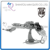 3D Star Trek USS Enterprise Klingon Vorcha Bird of Prey Metal Puzzle Geek Beyond Khan - Animetee - 6