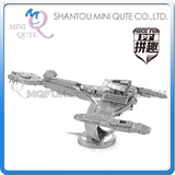 3D Star Trek USS Enterprise Klingon Vorcha Bird of Prey Metal Puzzle Geek Beyond Khan - Animetee - 5