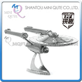3D Star Trek USS Enterprise Klingon Vorcha Bird of Prey Metal Puzzle Geek Beyond Khan - Animetee - 2