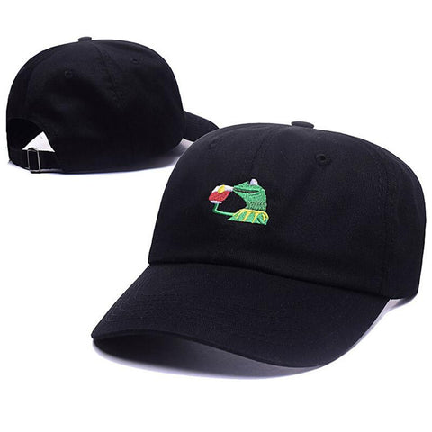 Kermit None Of My Business Unstructured Dad Baseball Cap Frog Tea Lebron  James New Embroidery Kenye ... 21be26044a1a