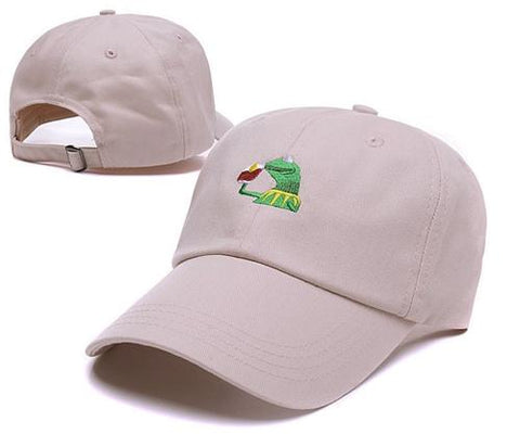 ... Kermit None Of My Business Unstructured Dad Baseball Cap Frog Tea  Lebron James New Embroidery Kenye ... 46d88da702a3