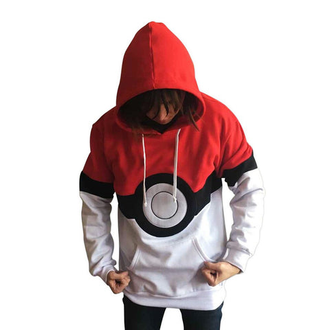 2016 High Quality Pokemon Hoodie Anime Cosplay Costume Men Women Hooded Sweatshirts Plus Size - Animetee