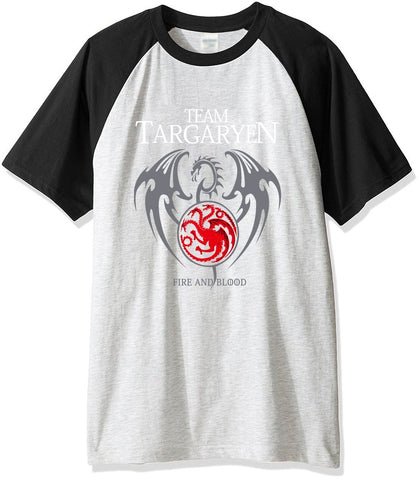 Winter Game of Thrones GOT New arrival 2017 summer men's t-shirts cotton brand raglan t shirt men  Team Targaryen Fire & Blood top harajuku AT_77_7