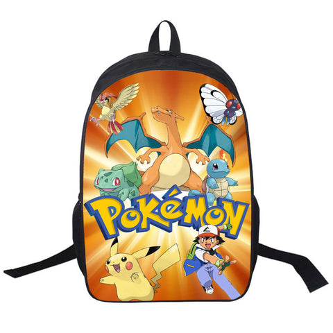 Anime Pokemon Daily Backpack Boys Girls School Bags Pikachu Prints Backpack  For Teenagers Kids Gift Backpacks a00ec79398